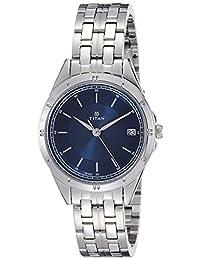 Titan Women's 2556SM02 Neo Analog Display Analog Quartz Silver Watch