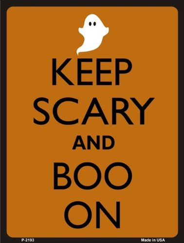 Keep Calm And Boo On Halloween Novelty Aluminum Small Parking Sign ()