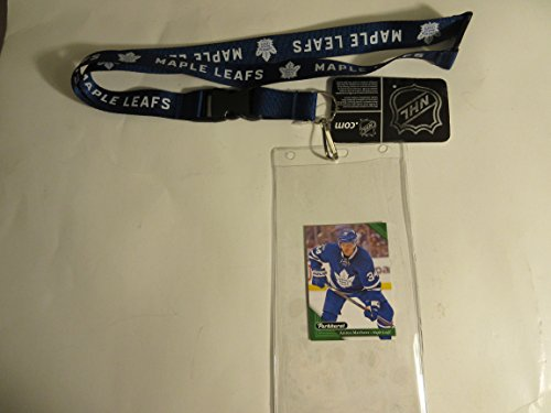 TORONTO MAPLE LEAFS OFFICIAL LANYARD WITH TICKET HOLDER PLUS COLLECTIBLE PLAYER CARD