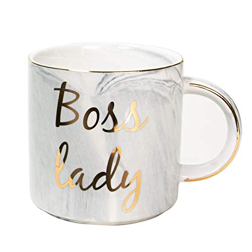 Vilight Boss Lady Mug Gifts for Wife Mom and Girl - Female Entrepreneur Business Owner Coffee Cup for Woman 11.5 oz (Best Gifts For Business Owners)