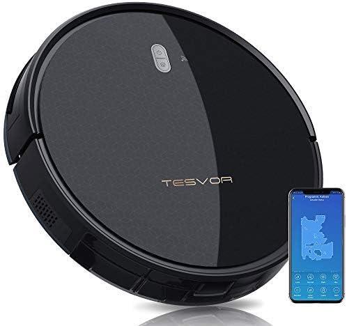 Tesvor Robot Aspirador – 4000Pa Fuerte Aspirador Robot de Succión, Alexa Voice y APP Control, ...
