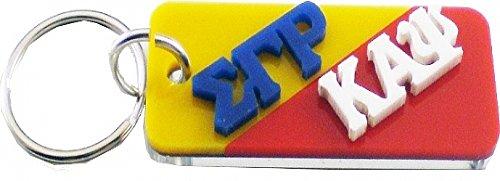 Sigma Gamma Rho + Kappa Alpha Psi Mirror Split Keychain [Gold/Red - 3