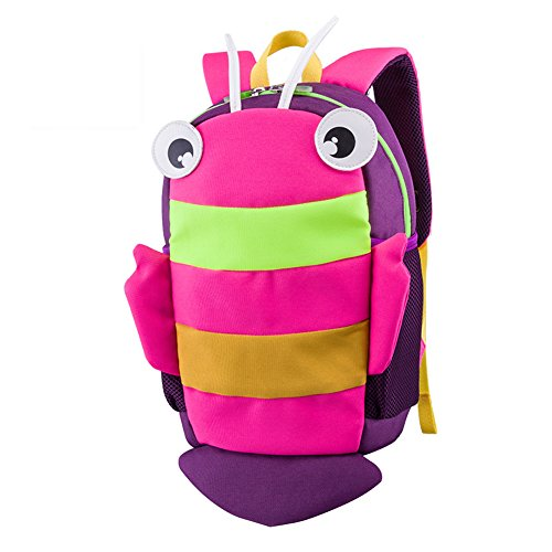 Kids Insulated Toddler Backpack with Safety Harness Leash Waterproof Preschool Packie Backpack (Hot Pink)