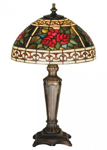 Lumtopia Meyda Tiffany 37790 Roses & Scrolls Accent Lamp,...