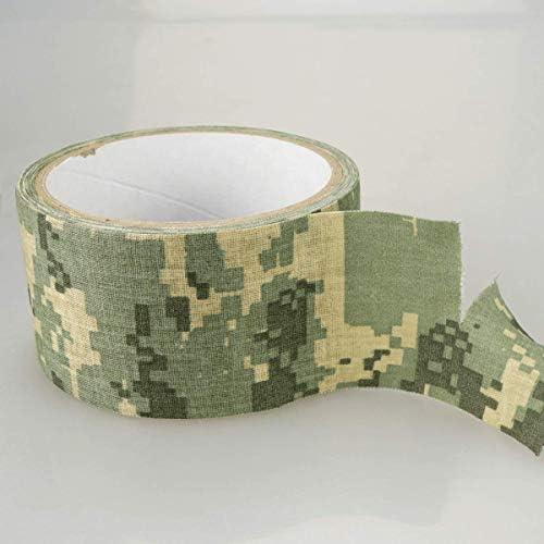 Heveer Bande de Camouflage Auto-adh/ésif Ruban Bandage Extensible Protecteur pour Camping en Plein air Photographie Chasse 6 Rouleaux