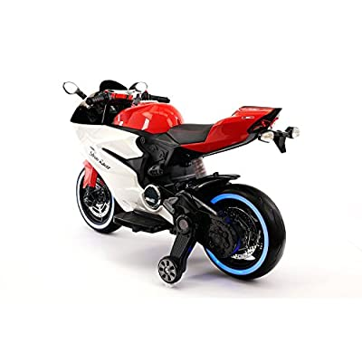 Street Racer New Ducati Motorcycles Style 12V Electric Kids Ride-ON Motorcycle | RED: Toys & Games