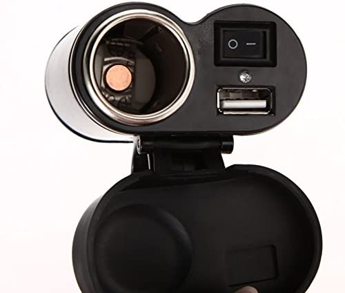 12/V//24/V moto presa accendisigari Moto scooter manubrio montato caricabatterie impermeabile Dual USB caricabatteria