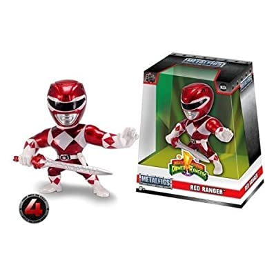 "Jada Limited Edition 4"" METALFIGS - Power Rangers - RED Ranger M334 99270: Toys & Games"