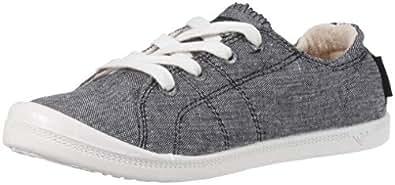 Roxy Women's Bayshore Slip on Shoe Fashion Sneaker, New Black, 5 M US
