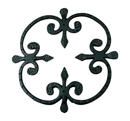 - Speakeasy, Window or Gate Grille, Solid Iron, Black finish Deco Grille #1