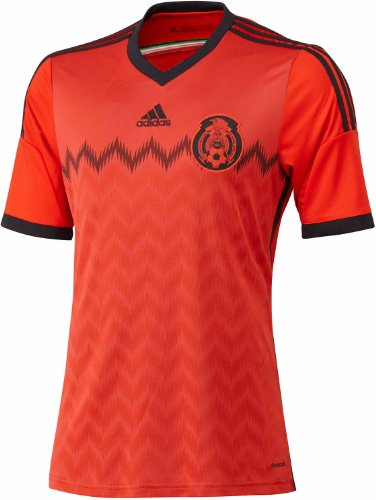 Adidas Mexico Away Jersey Youth [RED/BLACK] (S)