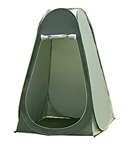Faswin Pop Up Pod Toilet Tent Privacy Shelter Tent Camping Shower Potable Outdoor Changing Room Dark Green