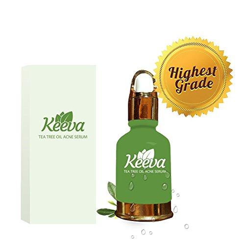 #1 meilleures Tea Tree huile acné sérum par Keeva - 100 % naturel acné Killer traite des défauts d'acné, taches, cicatrices, Bacne, boutons, points noirs. Travail plus rapide traitement localisé sur Amazon!