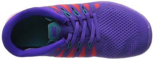Nike Free 5.0, Unisex Kids' Running Shoes Purple Venom/Metallic Silver/Orange/Green