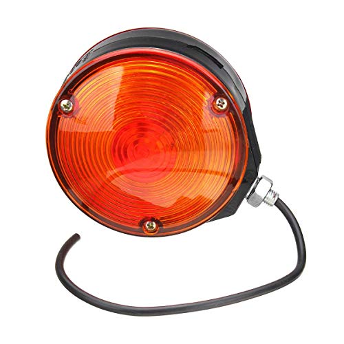 12V Car Mirror Side Maker Light Amber/Red Lamp Roadway Safety Traffic Light Trailer Truck Light Lamp Accessories ()