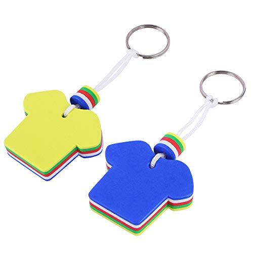 GARNECK 2 Pcs/pack EVA Floating Keychain Key Ring Safety Key Holder for Marine Boat Fishing Sailing & Water Sports…