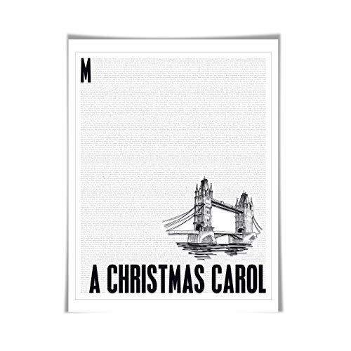 A Christmas Carol. Charles Dickens. Literary Art Print. 4 Sizes. Literature Poster. Book Art -