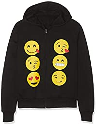 Kids Emoji Emoticons Smiley Faces Long Sleeve Hoodies Tops Girls Age New 5-13 Y