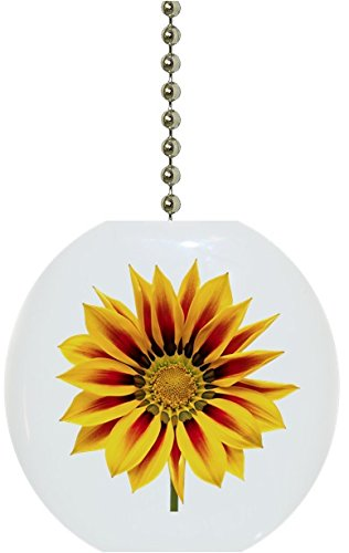 Sunflower Floral Solid Ceramic Fan Pull