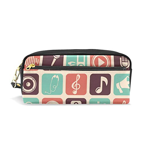 Wave Music Player Image Waterproof Travel Toiletry Pouch,Pencil Pen Case Multi-functional Cosmetic Makeup Bag, Fashion Zipper Pouch Purse.
