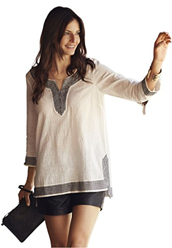 Ellos-Womens-Plus-Size-Embroidered-Kurta-Woven-Tunic