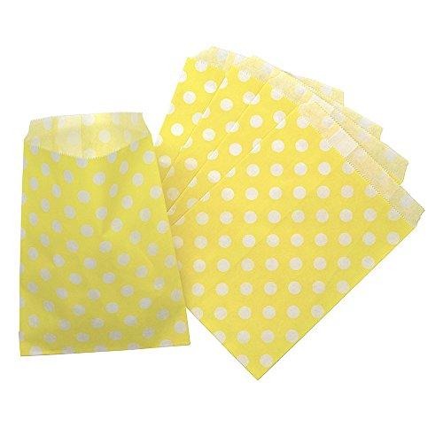 Picnic Dots - CTIGERS Yellow Polka Dots Party Favor Paper Bags Treet Bag 5
