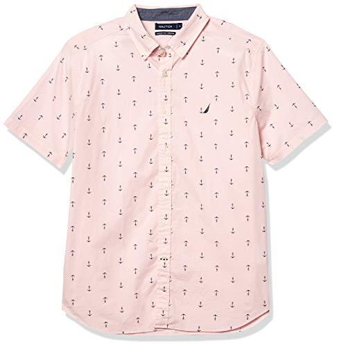 Nautica Men's Anchor Print Poplin Shirt