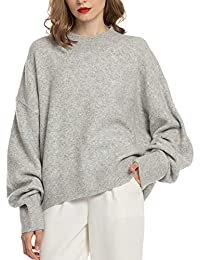 Woolen Bloom Women Lightweight Sweater Mock Neck Oversized Loose Fall Sweaters Pullover Long Sleeve Casual Winter Crop Tops