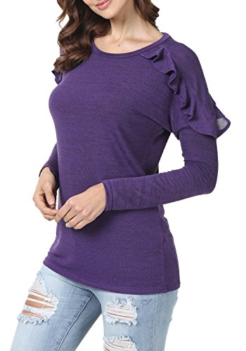 levaca-Womens-Ruffles-Long-Sleeve-O-Neck-Loose-Fit-Casual-Tunic-Tops