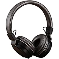 Shengpute Bluetooth Headphones,Foldable Lightweight Headsets with Mic Compatible with Phones Over-Ear Earphones(Iron gery)