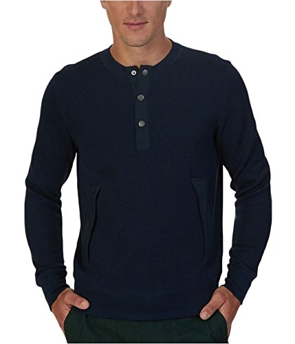 Nautica Men's Active Fit Henley Sweatshirt, Navy, L