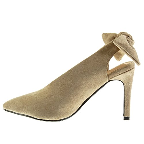 ... Angkorly Damen Schuhe Pumpe - Dekollete - Stiletto - Fliege Stiletto  High Heel 10 cm Khaki ...