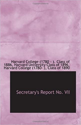 Secretary's Report No. VII