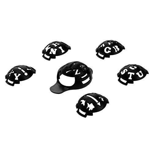 MUXSAM 1 Set 7Pcs Golf Ball Line Liner Marker Template Set Drawing Alignment Tool Ball Monograms - Black