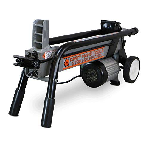 Dirty Hand Tools 100481 Log Splitter Horizontal - Electric, 5 Ton, 2HP, 120V, 25 Second Cycle ()
