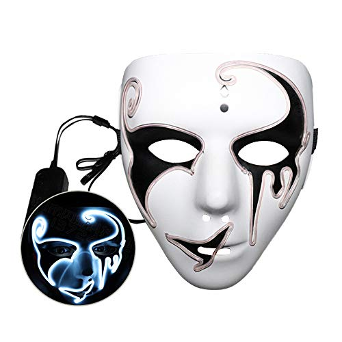 BELUPAI Glowing LED Halloween Masks Cosplay Masquerade Halloween Party Favors -