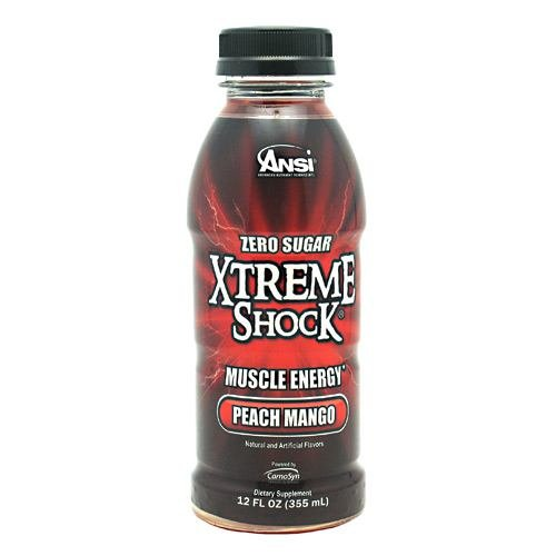 Ansi Xtreme Shock RTD Energy Drink, Peach Mango, 12 oz., 12 Count
