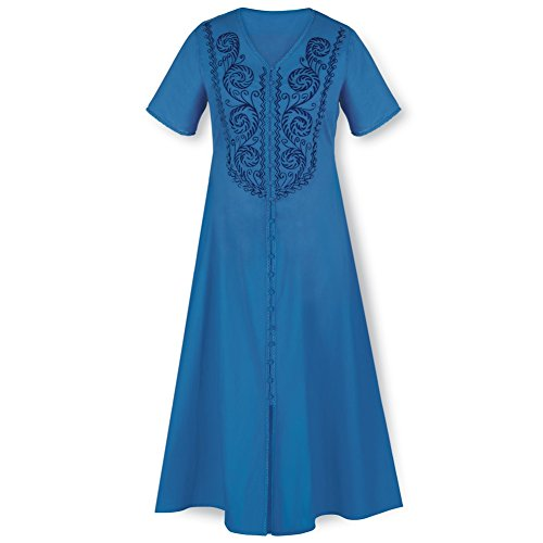 Womens Tonal Embroidered V neck Dress