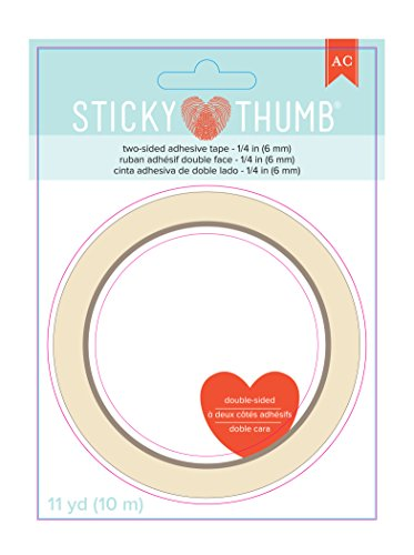 Double Sided Craft Tape (American Crafts Sticky Thumb Double-Sided Tape, 0.25