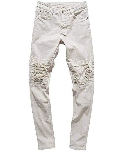 En Blanc Fuweiencore Jean Pantalon 32 Pour Slim Noir Extensible Hommes coloré Taille TBqfnAB