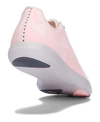 Under Armour Mens Precisione Strada Bassa Sneaker Rosa Balletto / Materia Grigio / Rosa Balletto