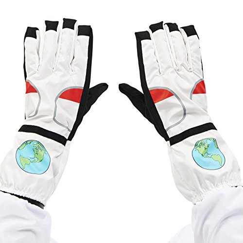 Dream Weavers Costumers White Astronaut Adult Gloves Astronaut Space Gloves
