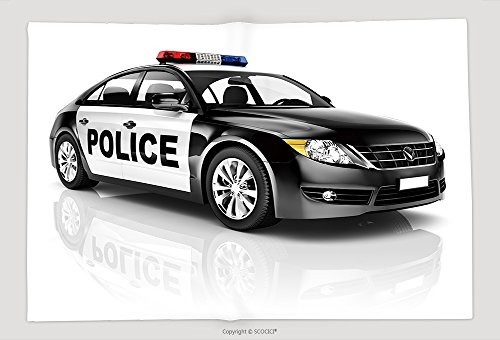 Supersoft Fleece Throw Blanket Police Car 213315472 by vanfan