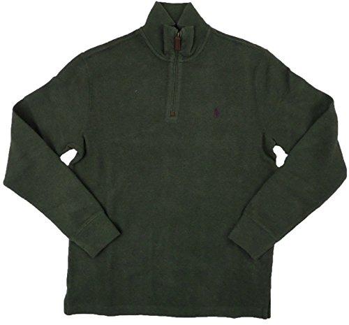 55ca9ff6 Polo Ralph Lauren Mens Half Zip French Rib Cotton Sweater (XX-Large, Alpine