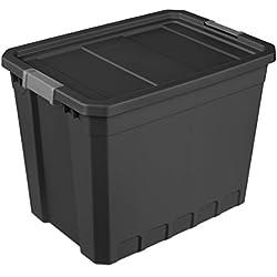 Sterilite 27 Gal./102 L Industrial Tote, Black - 4 Pack