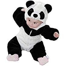 Eden Babe Romper For Baby Girl Boy Winter Flannel Panda Onesie Outfits Suit Unisex-Baby