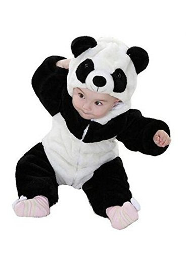 Eden Babe Unisex-baby Winter Flannel Romper Panda Onesie Outfits Suit(100cm) (Panda Baby Costume)