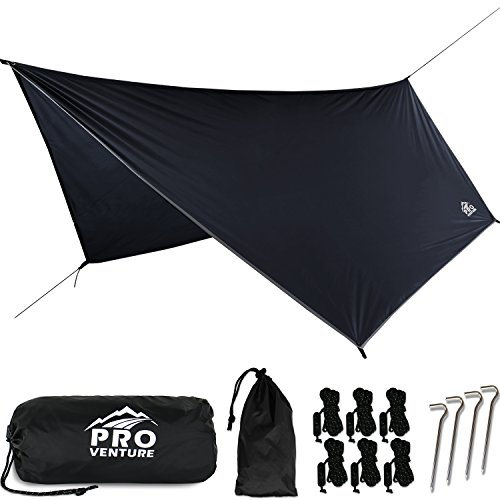 Proventure Large Hammock Rain Fly Black Double Camping