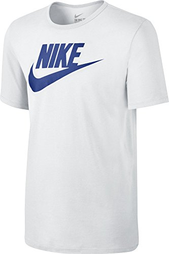 Nike Mens Futura Icon T-Shirt White/Royal Blue 624314-103 Size Small