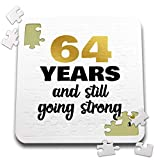 3dRose Janna Salak Designs Anniversary - 64 Year Anniversary Still Going Strong 64th Wedding 10x10 Inch Puzzle (pzl_289696_2)